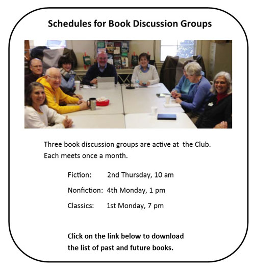 Book discussion groups insert 500w